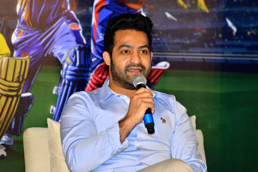 Jr NTR has been roped in to endorse the Telugu content for the forthcoming IPL 2018 during a press conference in Hyderabad on April 3, 2018.