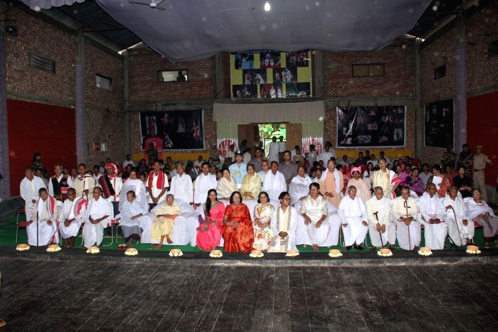 JSPL Foundation President Shallu Jindal, Manipur Governor Dr. Najma Heptulla & Oswal Group Chairperson Aruna Oswal during the Swayamsiddh Samman Awards in Imphal on Sept 19, 2016. - Najma Heptulla