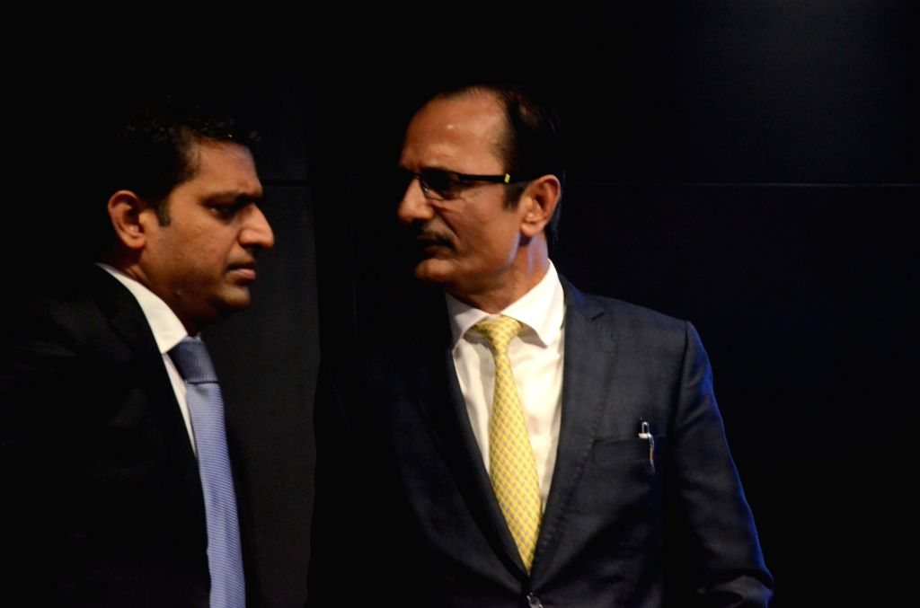 JSW Energy Director Finance Jyoti Kumar Agarwal and JSW Energy Executive Vice-President Sharad Mahendra at a programme where the JSW Energy's first quarter results to the financial year ... - Jyoti Kumar Agarwal