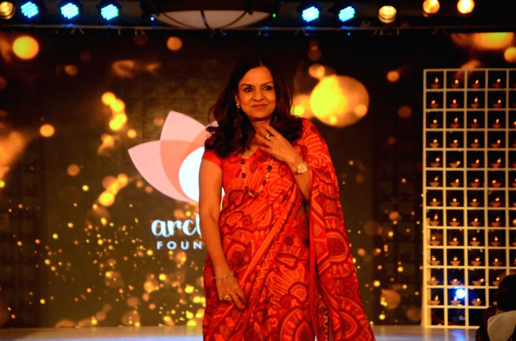 JSW Foundation chairperson Sangita Jindal attends a fashion show organised to mark International Women's Day on March 7, 2017.