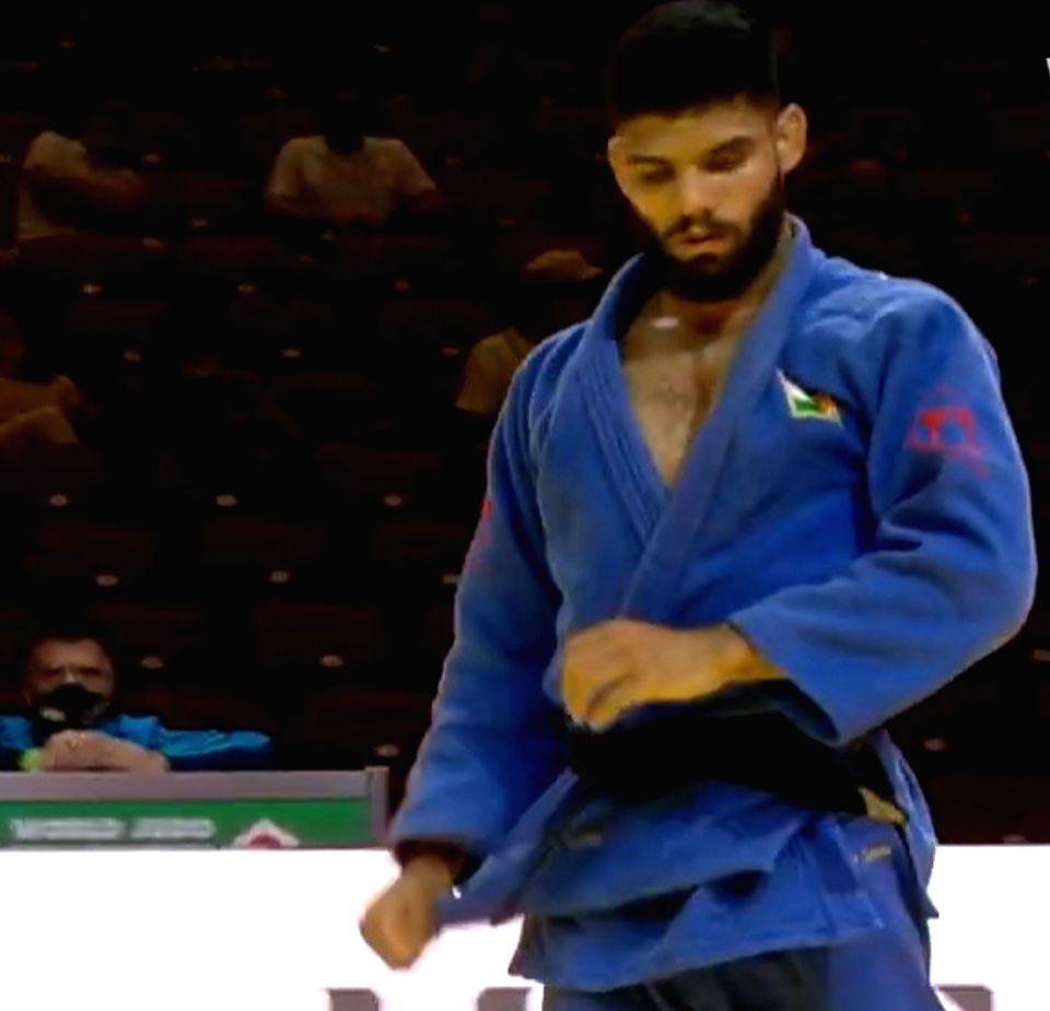 Judo player Jasleen Saini picture to go with Saini loses first round of world meet