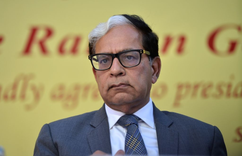 Justice A.K. Sikri during his farewell ceremony in New Delhi, on March 6, 2019.