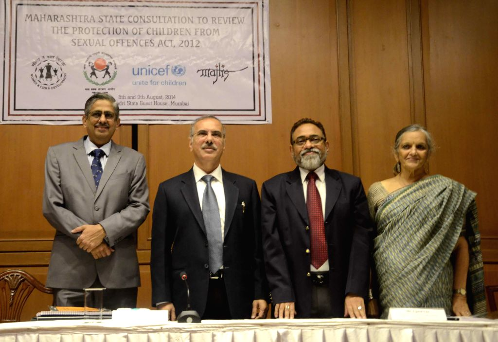 Justice V M Kanade, Chief Justice of Bombay High Court, Justice Mohit Shah, Secretary of Women and Child Development Department of Government of Maharashtra Ujwal Uke, Lawyer and women's rights ... - Mohit Shah