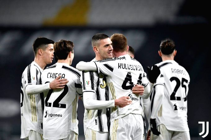 Juve ease past SPAL to set up Inter clash in Coppa Italia.(photo:Twitter)