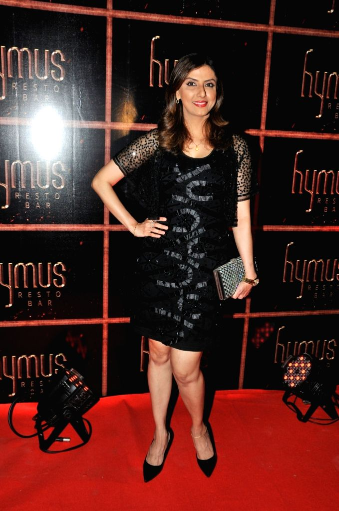 Jyoti Saxena during the party organised to celebrate the opening of Hymus Resto Bar in Mumbai, on August 12, 2016.