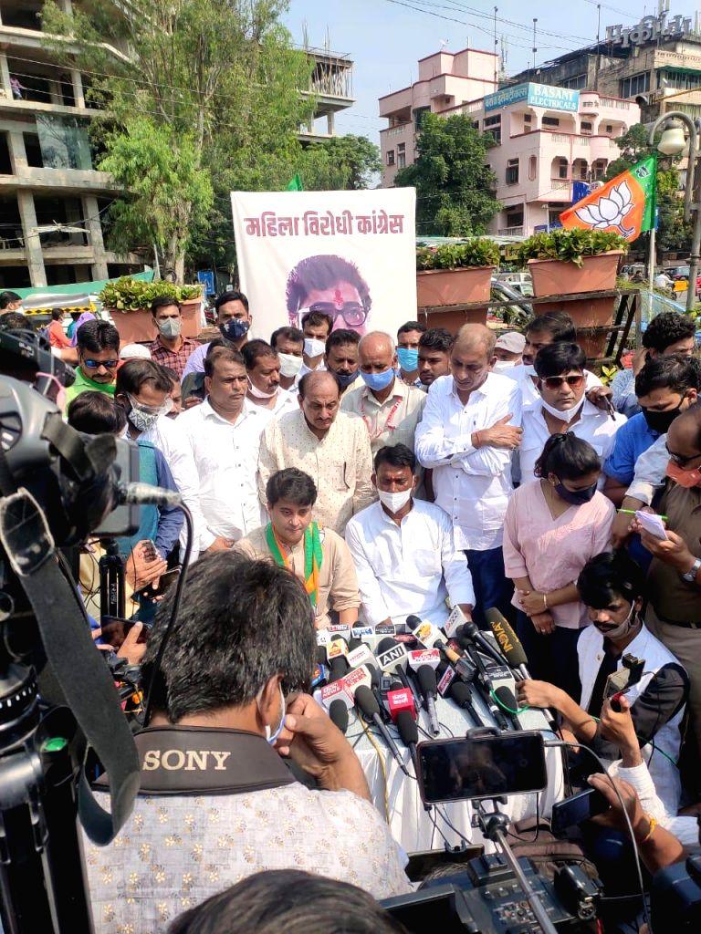 Jyotiraditya Scindia arrives in Indore to observe silence