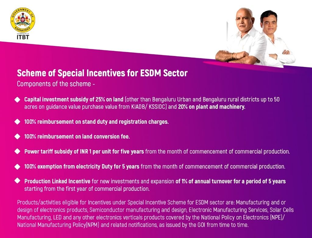 K'taka offers slew of incentives to EDSM companies Minister.