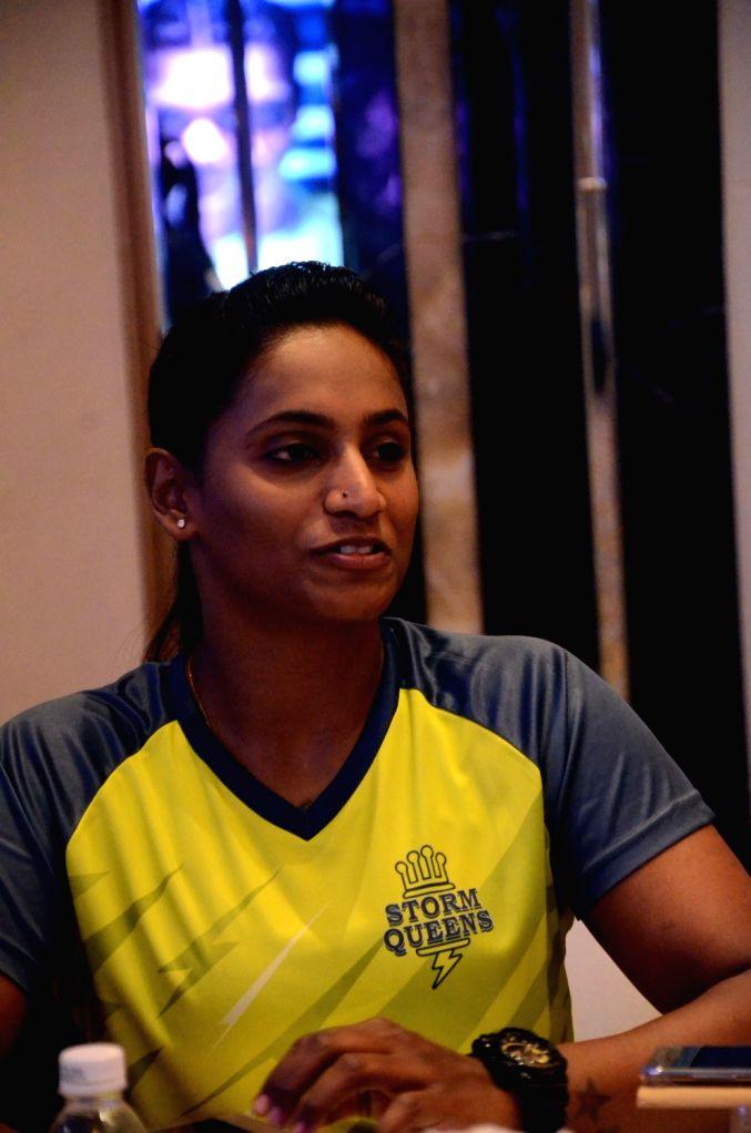 Kabaddi player Tejasvini Bai during a press meet in Mumbai, on June 27, 2016.