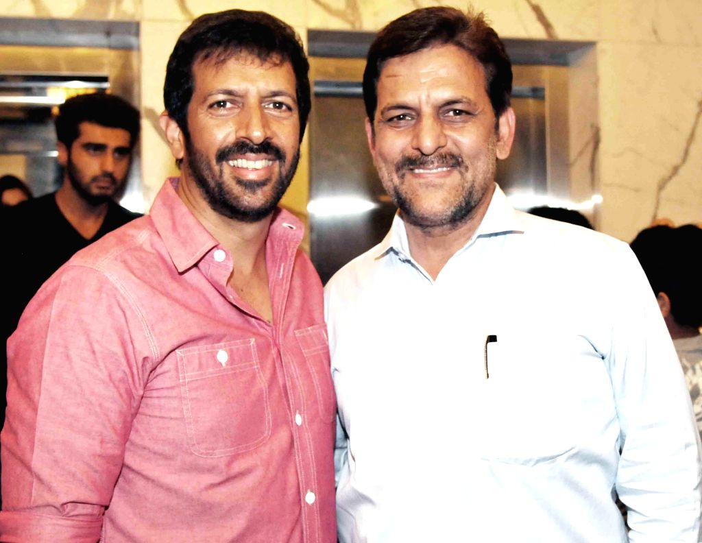 Kabir Khan , Rakesh Madhotra ceo nadiad wala grandson during special screening of film 2 States at YRF Studios in Mumbai on April 17, 2014. - Kabir Khan