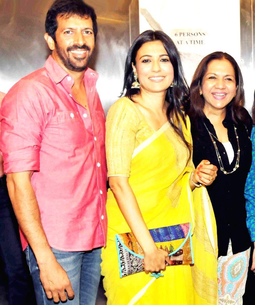 Kabir Khan with wife and Lali during special screening of film 2 States at YRF Studios in Mumbai on April 17, 2014. - Kabir Khan