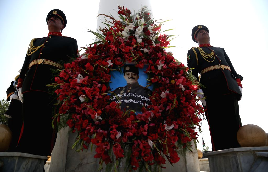 KABUL, Aug. 19, 2017 - Afghan honor guards stand during the celebration of Afghan Independence Day in Kabul, Afghanistan, on Aug. 19, 2017.Afghanistan on Saturday marked the 98th anniversary of its ...