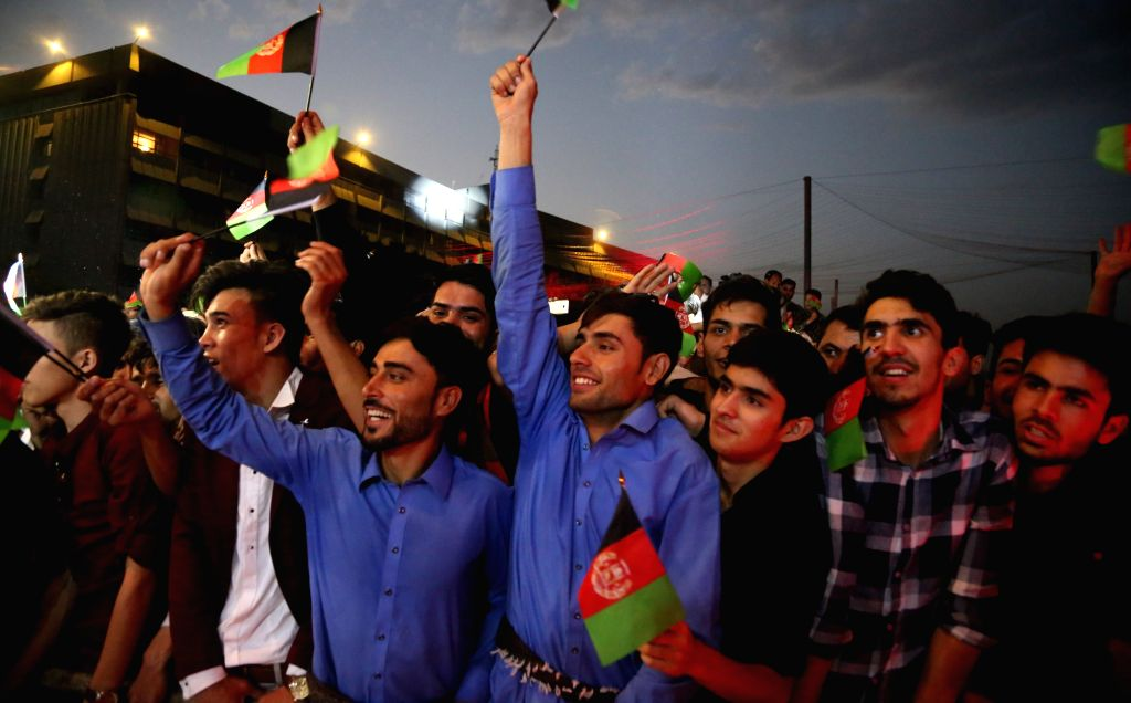 KABUL, Aug. 20, 2017 - Afghans attend a concert to celebrate the 98th Independence Day anniversary of Afghanistan in Kabul, Afghanistan, on Aug. 19, 2017. It is the first time over the past 16 years ...