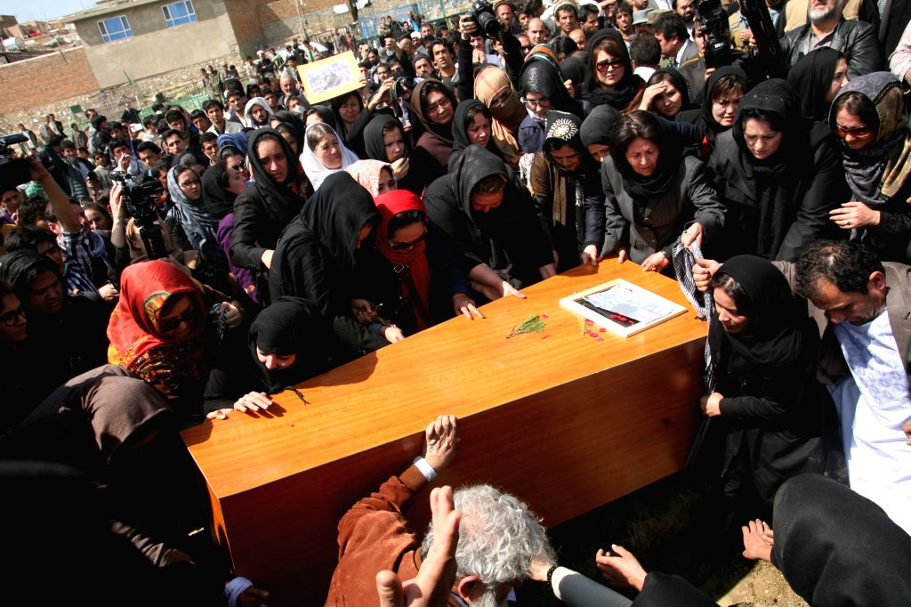 Breaking with tradition, angry women in Kabul carry the coffin of a young woman who was burnt to death by religious extremists for allegedly burning the holy Quran on March 23, 2015.