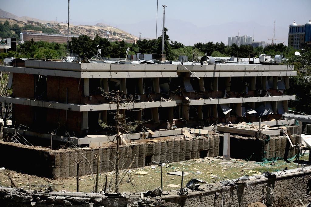 KABUL, June 1, 2017 - Photo taken on June 1, 2017 shows the German embassy after a car bomb explosion in Kabul, capital of Afghanistan. The Afghan National Directorate of Security (NDS), the primary ...