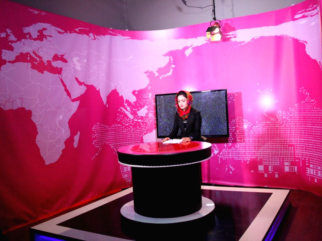 KABUL, May 28, 2017 - Basira Joya, 20, presents a news program at Zan TV in Kabul, capital of Afghanistan, May 23, 2017. The first-ever woman television channel, Zan TV, in Afghanistan has been ...