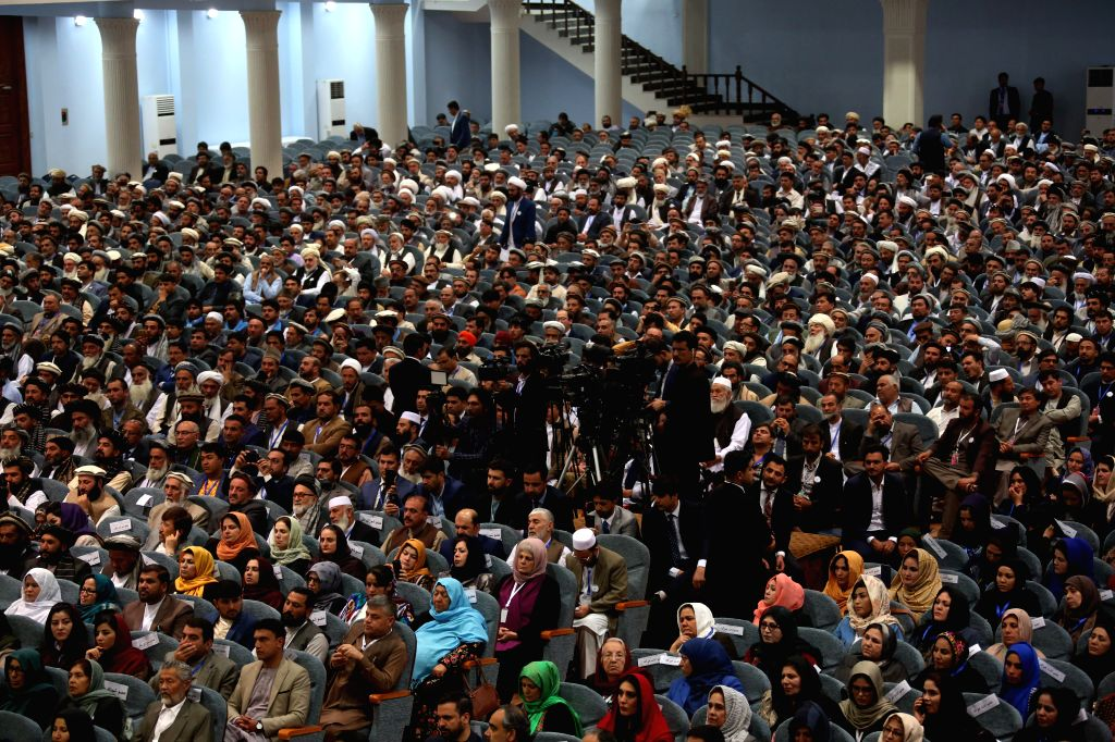 KABUL, May 3, 2019 - Representatives are present on the last day of the consultative Loya Jirga in Kabul, capital of Afghanistan, May 3, 2019. Afghan President Mohammad Ashraf Ghani once again called ...