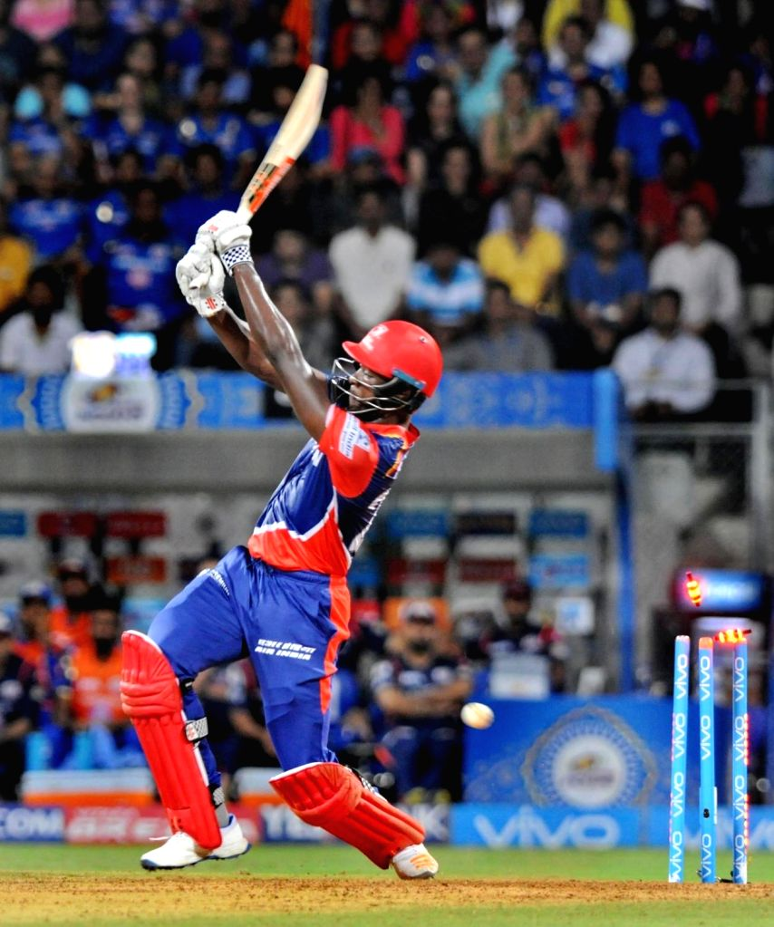 Kagiso Rabada of Delhi Daredevils gets bowled during an IPL 2017 match between Mumbai Indians and Delhi Daredevils at Wankhede Stadium in Mumbai on April 22, 2017.