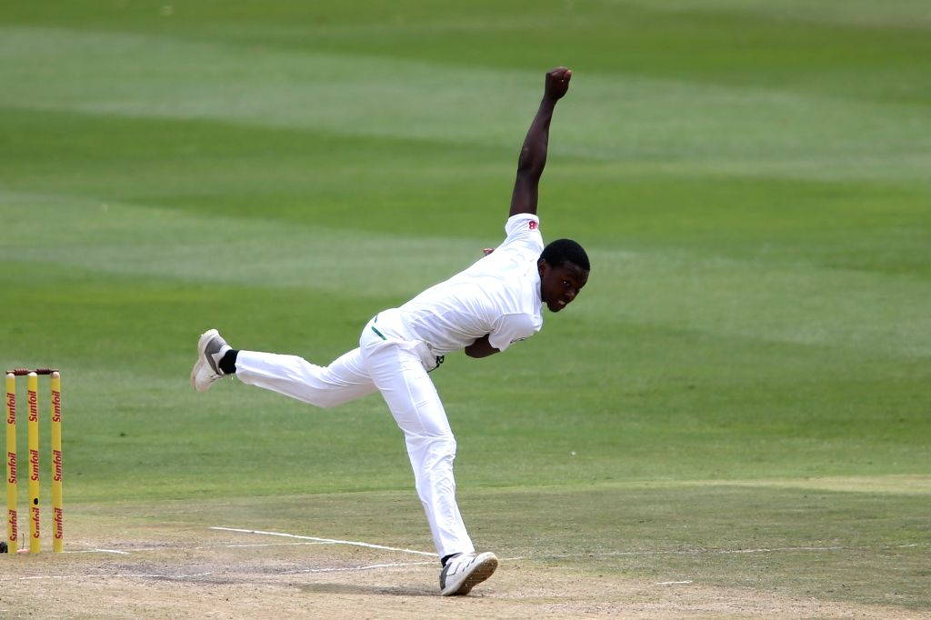 Kagiso Rabada of South Africa in action during Day 3 of the third Test match between South Africa and India at the Wanderers Stadium in Johannesburg, South Africa on Jan 26, 2018.