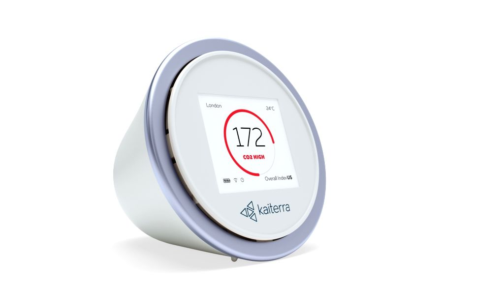 Kaiterra Laser Egg+ CO2 air quality monitor.