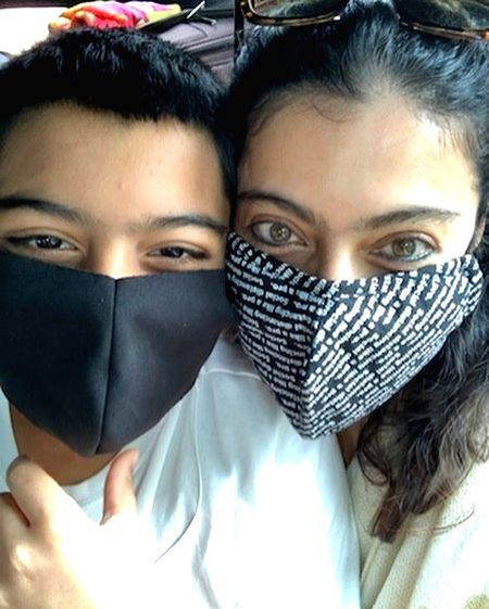 Kajol shares glimpse of the masked bandits (Photo:Instagram) - Kajol