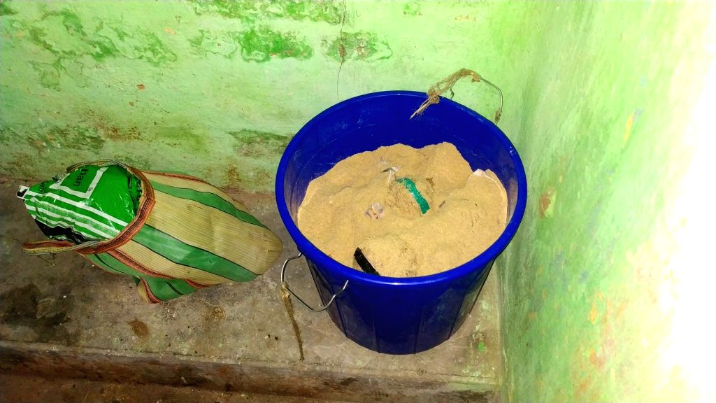 Kakinara: 20 bombs recovered by police at Katadanga in Kakinara of West Bengal's North 24 Parganas district on July 15, 2019. (Photo: Indrajit Roy/IANS) - Indrajit Roy