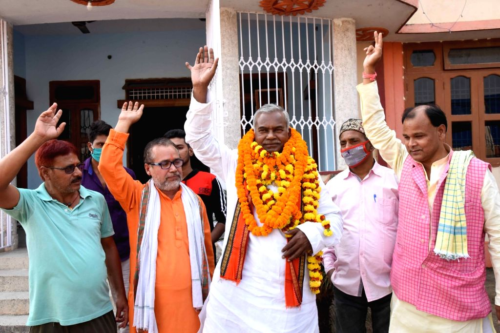 Kameshwar Chaupal, the Dalit leader who laid the foundation stone for Ram Mandir at the shilanyas site in Uttar Pradesh's Ayodhya in 1989 and who is expected to be named as next Bihar Deputy ...