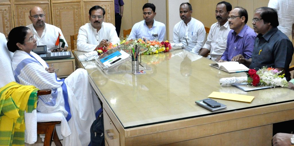 Kamtapur party leaders calls on West Bengal Chief Minister Mamata Banerjee at Nabanna in Howrah on March 10, 2017. - Mamata Banerjee