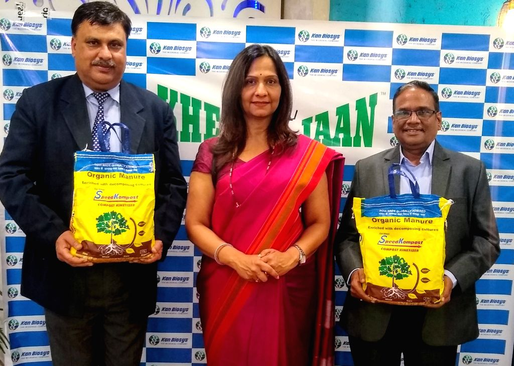Kan Biosys MD Sandeepa Kanitkar during the launch of Speed Kompost, an Eco-friendly product that tackles the problem of stubble burning, in Chandigarh on Nov 13, 2019.