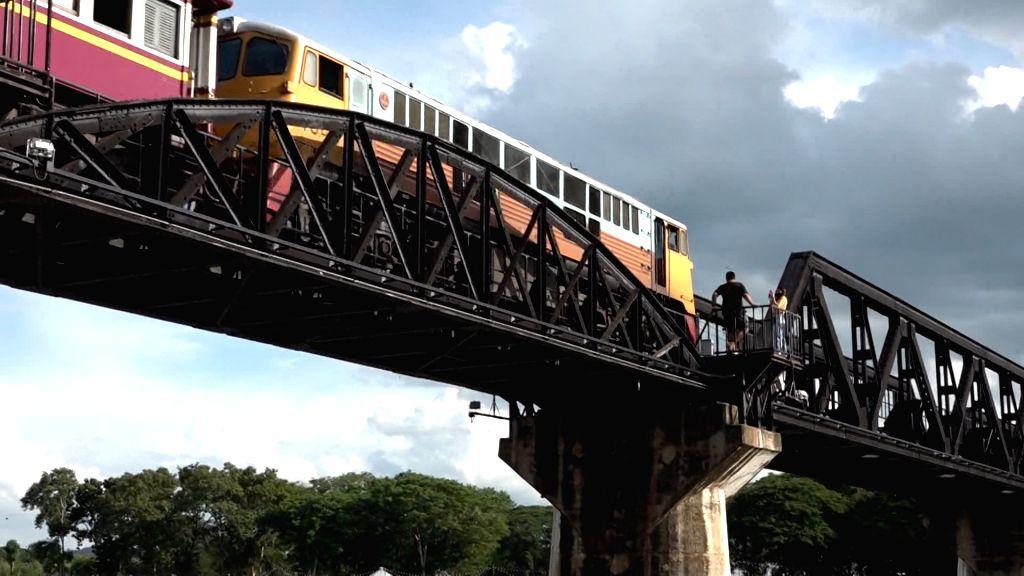 "Kanchanaburi (Thailand), Sept. 1, 2020 Photo taken on Aug. 18, 2020 shows the bridge over the River Kwai, the most notable part of the ""Death Railway,"" in Kanchanaburi, ..."