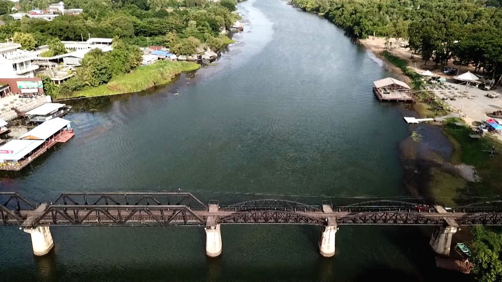 "Kanchanaburi (Thailand), Sept. 1, 2020 Photo taken on Aug. 19, 2020 shows the bridge over the River Kwai, the most notable part of the ""Death Railway,"" in Kanchanaburi, ..."