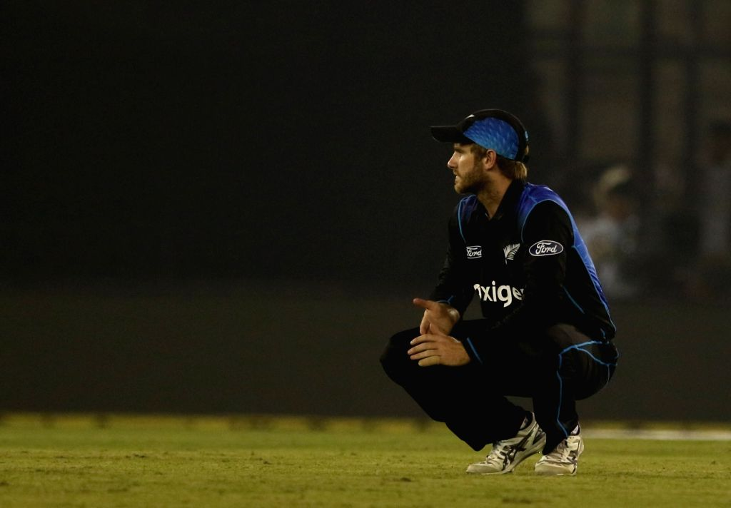 Kane Williamson of New Zealand during the third ODI match between India and New Zealand at Punjab Cricket Association Stadium, Mohali on Oct 23, 2016.