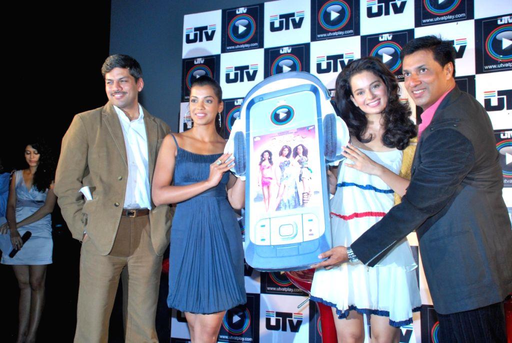 Kangana Ranaut and Mugdha Godse at UTVPLay.com - Film Son Mobile launch.