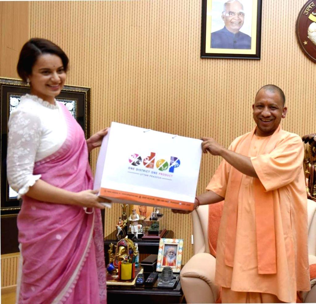 Kangana Ranaut is now brand ambassador of UP's ODOP scheme. - Kangana Ranaut
