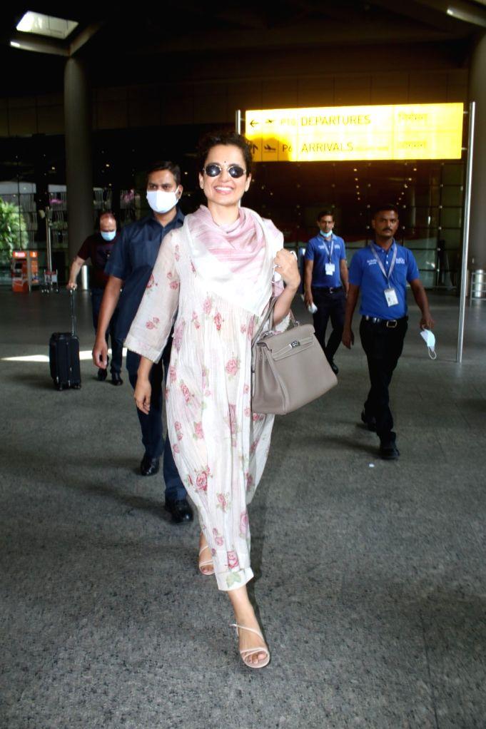 Kangana Ranaut Spotted at Airport Arrival On Monday, 07 June, 2021. - Kangana Ranaut