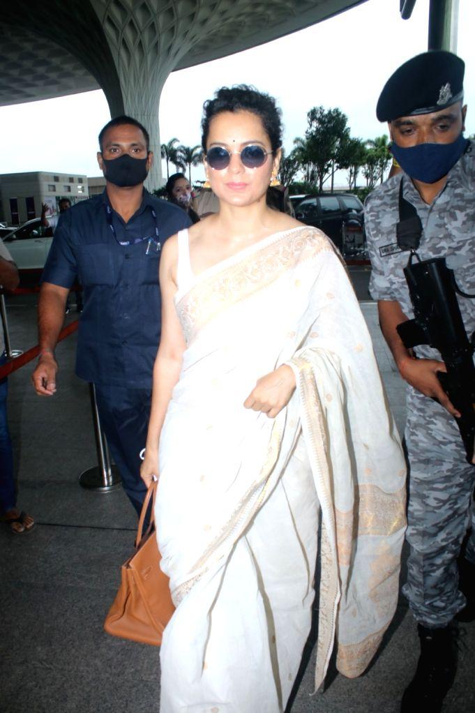 Kangana Ranaut Spotted at Airport Departure on Friday June 25, 2021. - Kangana Ranaut
