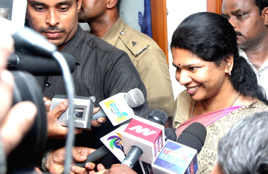 Kanimozhi. (Photo: IANS)