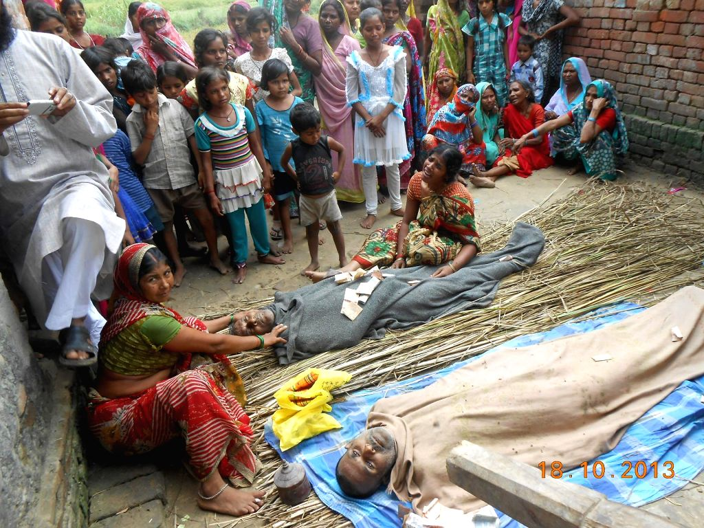 Kanpur, April 12 (IANS) Two people died on Sunday in Kanpur's Mawai Bhachhan village after consuming spurious liquor, police said.