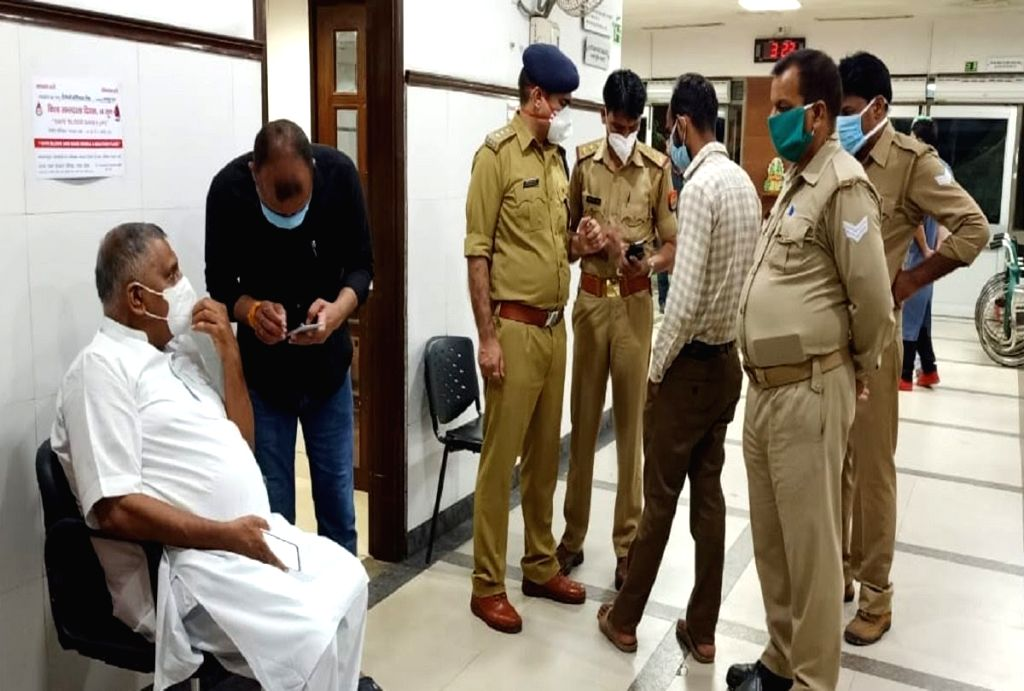 Kanpur: Two criminals, purportedly belonging to the Vikas Dubey gang that shot dead eight police personnel early on Friday, have been shot dead by the police, hours after the incident, in Kanpur on July 3, 2020. A firearm that had been looted by the