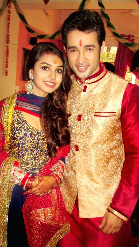 Karan Sharma and Tiaara Kar's engagement. - Karan Sharma