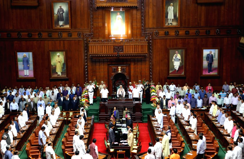 Karnataka Assembly Budget Session underway, in Bengaluru on Feb 6, 2019.
