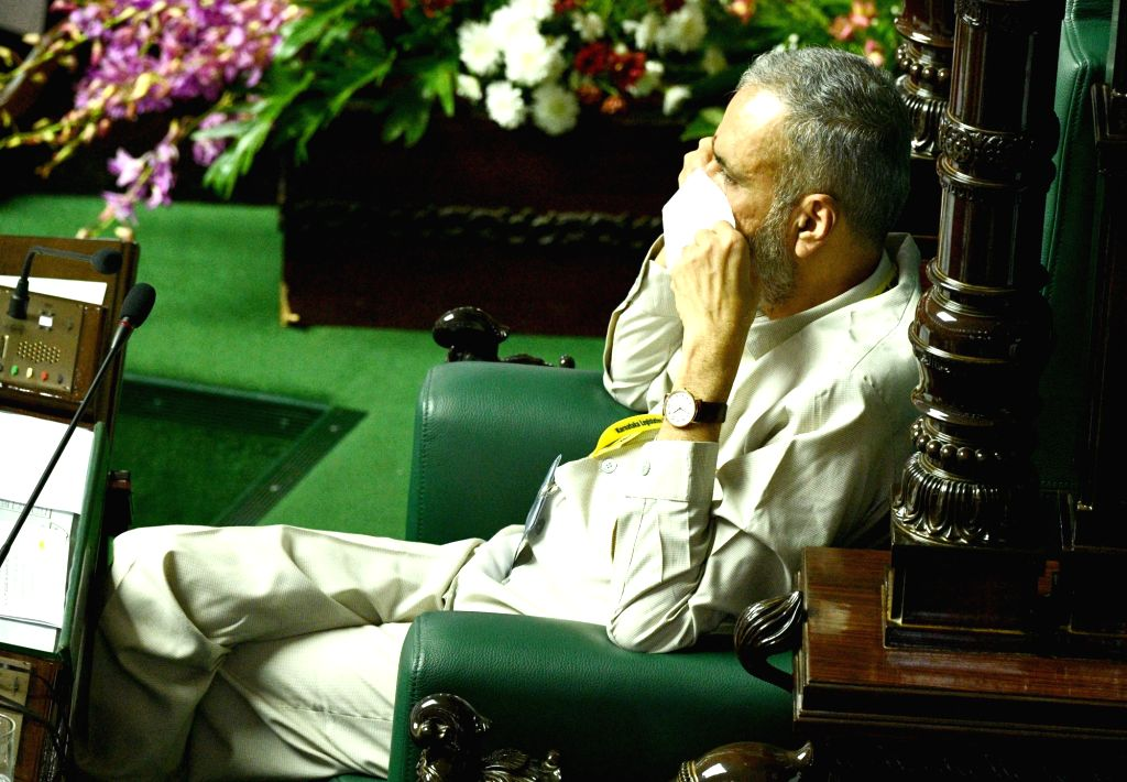 Karnataka Assembly Speaker Speaker Vishweshwar Hegde Kageri during the Monsoon Session of the State Assembly, at Vidhana Soudha in Bengaluru on Sep 23, 2020. - Speaker Vishweshwar Hegde Kageri