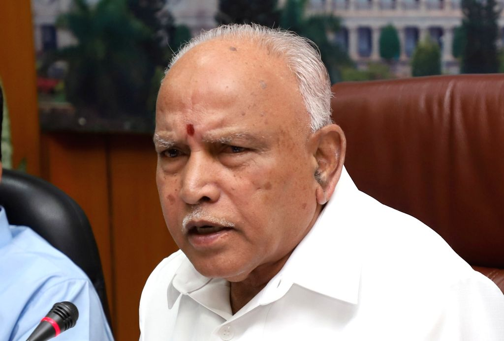 Karnataka Chief Minister BS Yediyurappa addresses a press conference in Bengaluru on Jan 25, 2020. - B