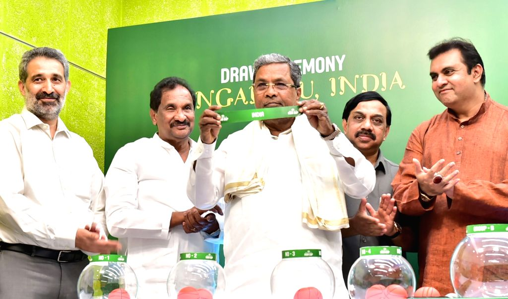 Karnataka Chief Minister Siddaramaiah at the draw of Asia Seniors Women's Championship Tournament organised by International Basketball Federation in Bengaluru, on May 17, 2017. - Siddaramaiah