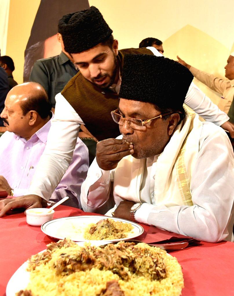 Karnataka Chief Minister Siddaramaiah during an Iftaar party hosted by him in Bengaluru on June 26, 2016. - Siddaramaiah