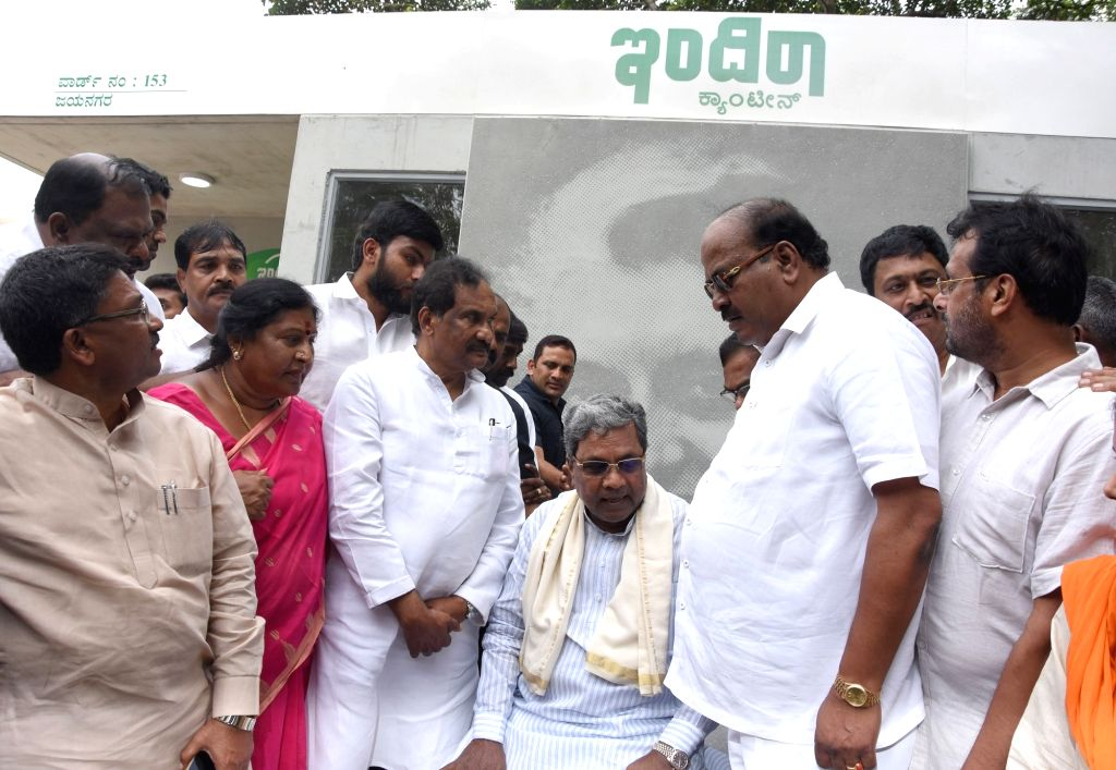 Karnataka Chief Minister Siddaramaiah inspects development works during Chief Minister City Rounds in Bengaluru on Aug 5, 2017. - Siddaramaiah
