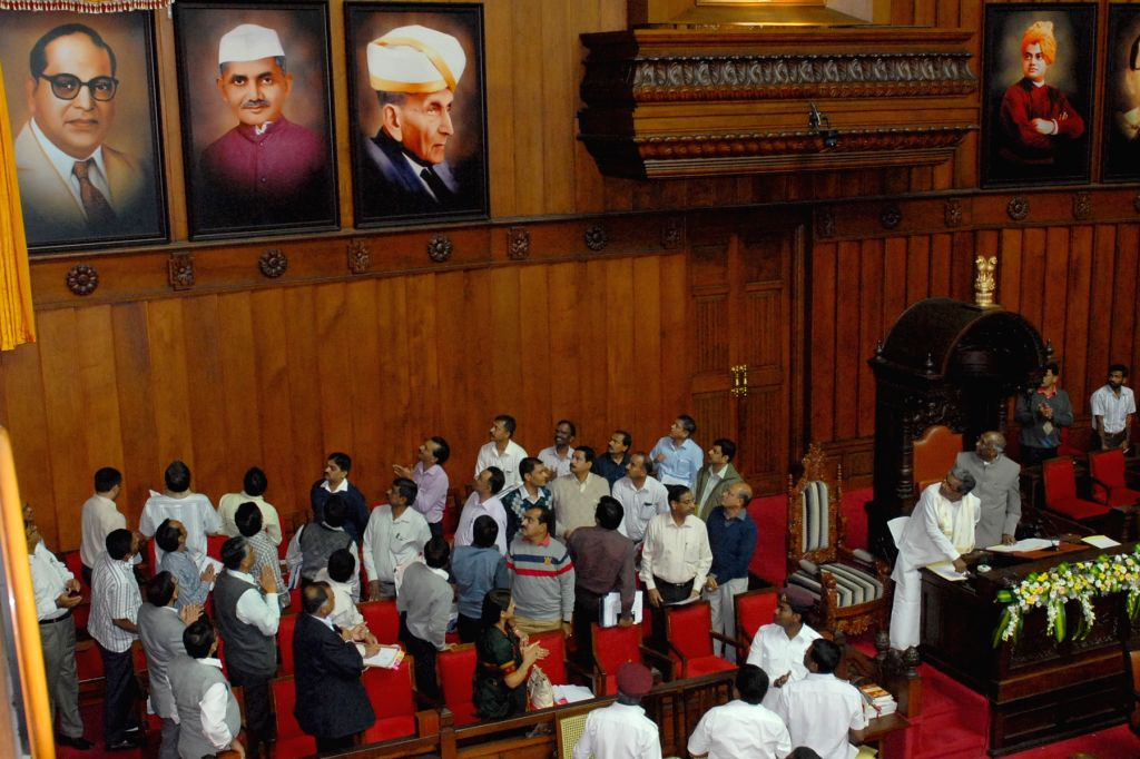 Karnataka Chief Minister Siddaramaiah unveils the portraits of Dr. BR Ambedkar, Lal Bahadur Shastri, Sir M Visveswaraiah and Swami Vivekananda on the first day of Winter Assembly Session ... - Siddaramaiah