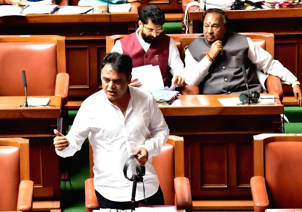 Karnataka Deputy Chief Minister C. N. Ashwath Narayan at Assembly session at Vidhan Soudha, in Bengaluru on Thursday 19 March 2020. - C. N. Ashwath Narayan
