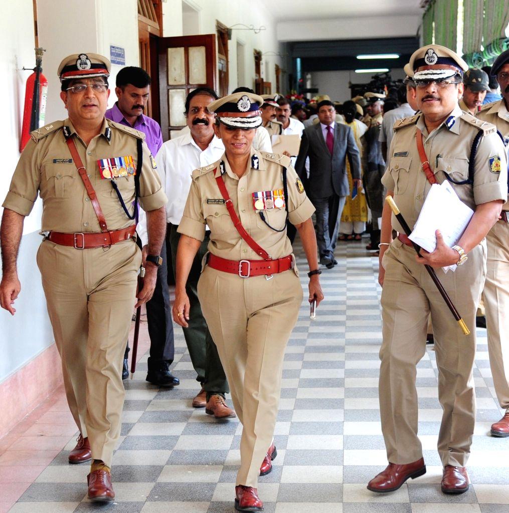 Karnataka Director General and Inspector General of Police Neelmani N Raju at Vidhan Soudha in Bengaluru on May 31, 2018.