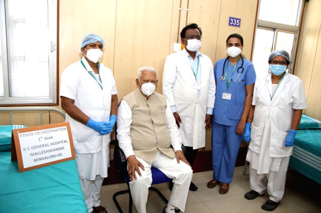 Karnataka governor Vajubhai Vala takes Covishield vaccine in Bengaluru