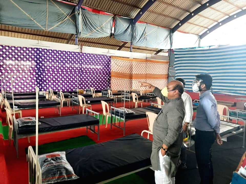Karnataka home minister turns home in assembly constituency into covid care centre.